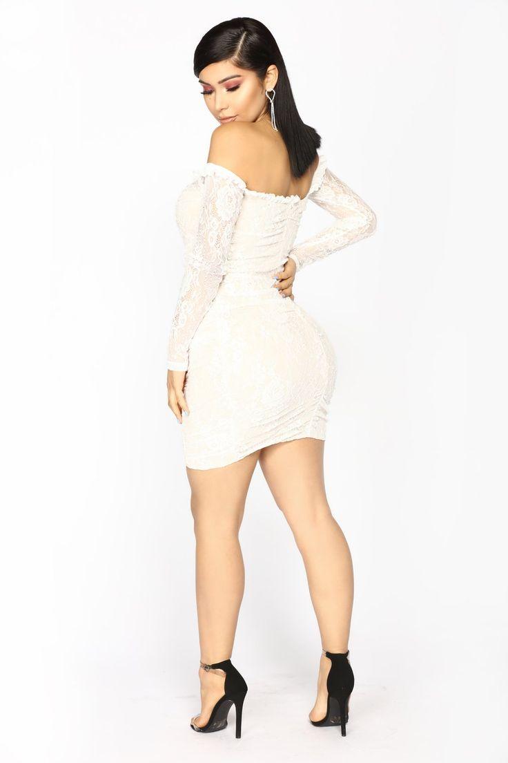 Kiss It Out Lace Dress - White