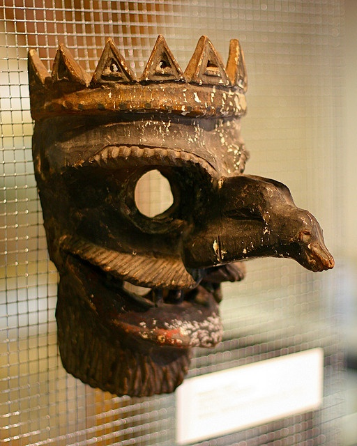 Shame Mask. Worn as punishment to shame a person convicted of a minor crime. From the Medieval Crime Museum in Rothenburg ob der Tauber, Germany.