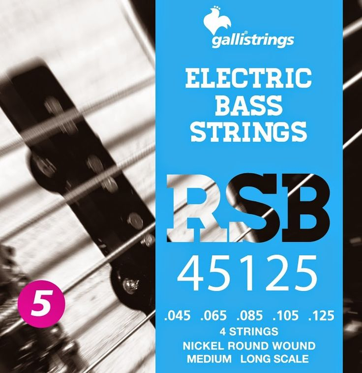 RSB 45125 5 strings nickel round wound - medium .045 -.065 -.085 -.105-.125 RSB A nickel wrapped hexagonal core with a rough surface for those looking for a sparkling timbre, with a metallic sound, and long lasting. Gallistrings delivers the freshest strings stright from our facility to your instrument!