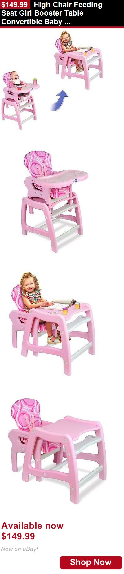 Baby High Chairs: High Chair Feeding Seat Girl Booster Table Convertible Baby Toddle Gift Portable BUY IT NOW ONLY: $149.99