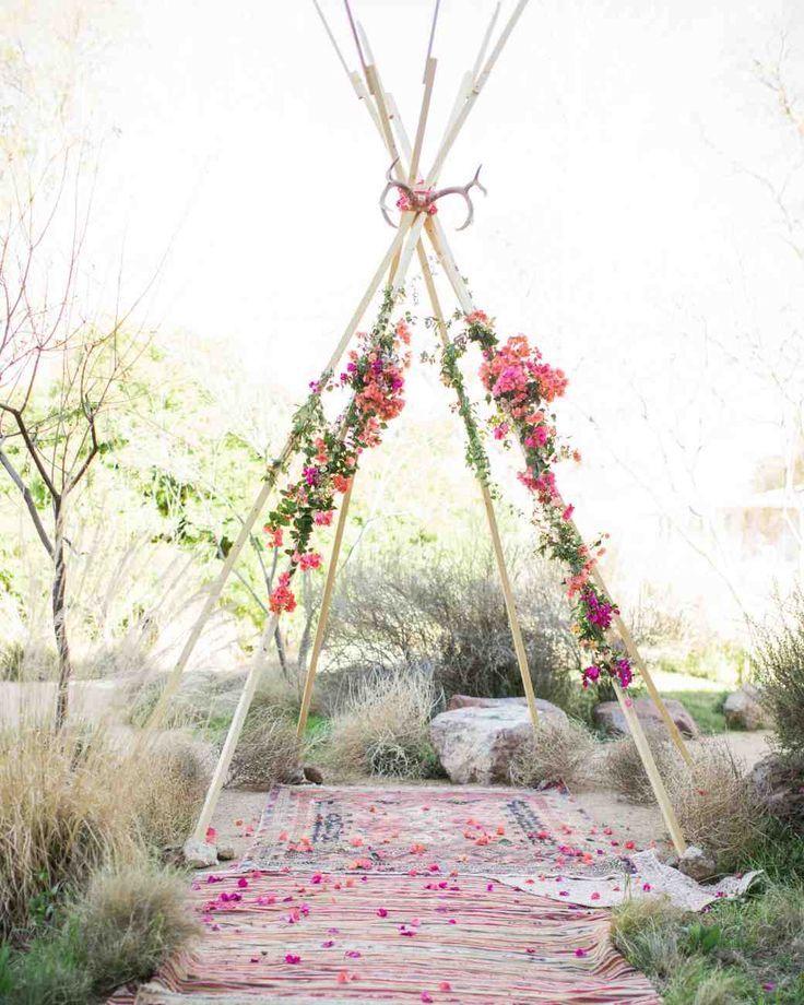Simple Wedding arch/backdrop | Indie Wedding Inspiration | Bohemian | Creative Aisle |