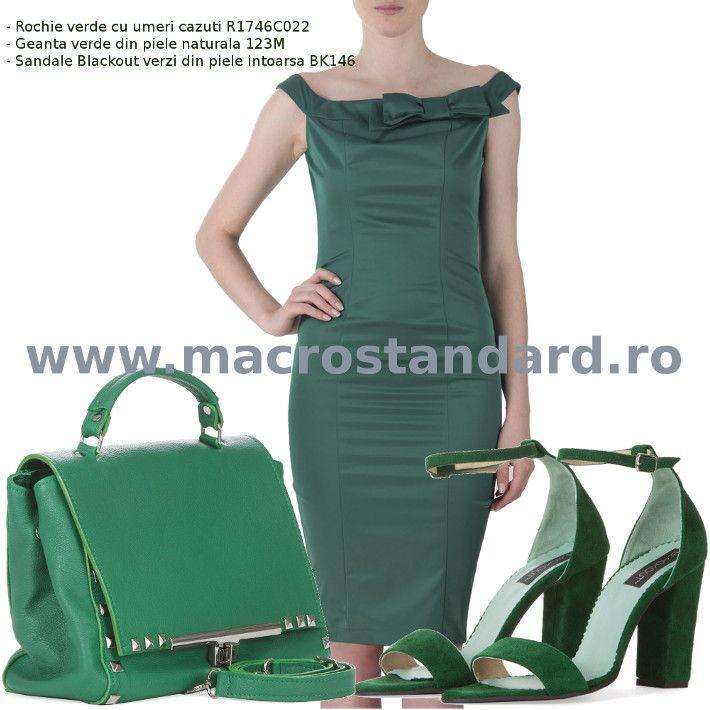 Tinuta feminina de culoare verde Ama Fashion