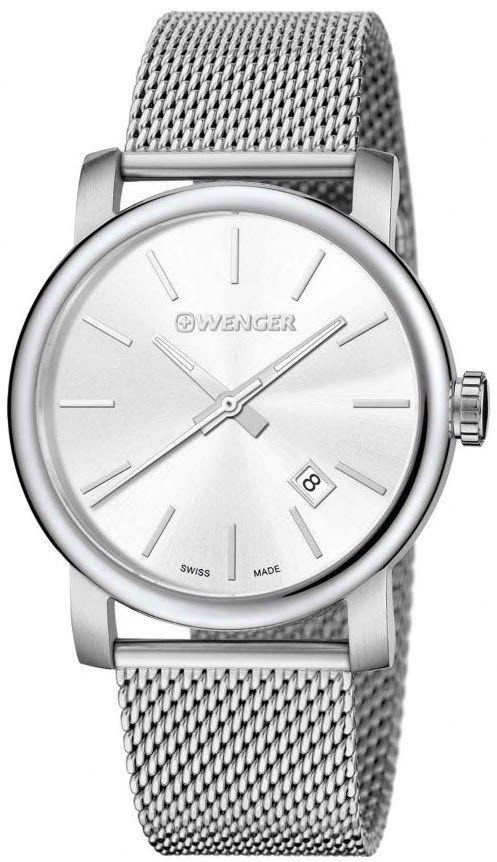Wenger Watch Urban Vintage #bezel-fixed #bracelet-strap-steel #brand-wenger #case-depth-10-2mm #case-material-steel #case-width-41mm #classic #date-yes #delivery-timescale-4-7-days #dial-colour-silver #gender-mens #movement-quartz-battery #new-product-yes #official-stockist-for-wenger-watches #packaging-wenger-watch-packaging #style-dress #subcat-urban #supplier-model-no-01-1041-121 #warranty-wenger-official-3-year-guarantee #water-resistant-100m