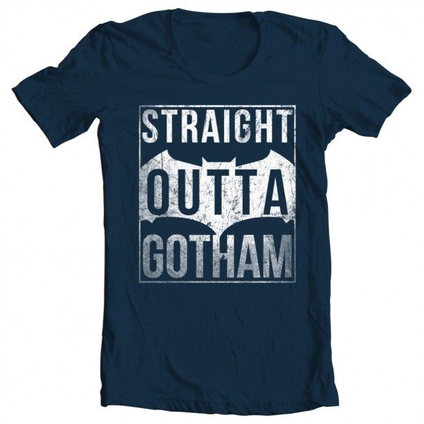 Men's Straight Outta Gotham Tee - gift for him - gift idea for batman fan