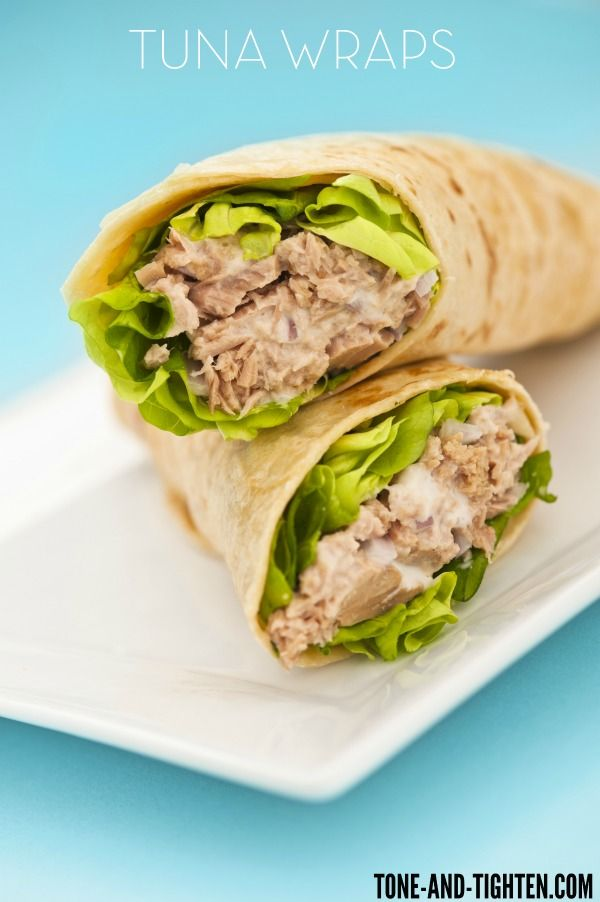 5 Minute Tuna Wrap from Tone-and-Tighten.com - the perfect healthy lunch!