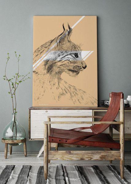 Onwall Ryś / Lynx - Animals - Onwall - Wydruki na płótnie