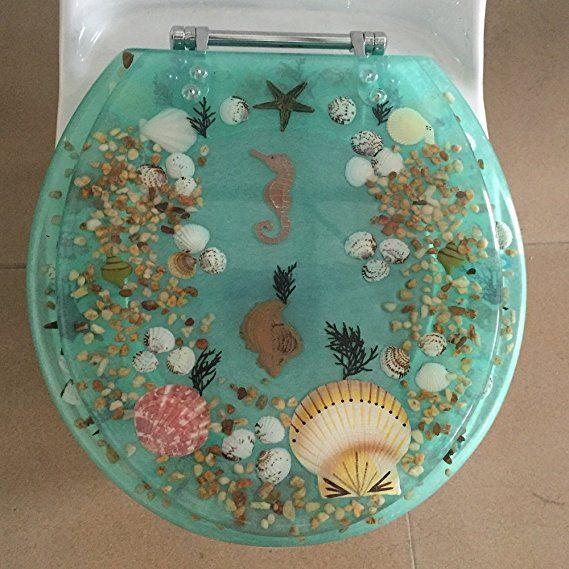 Seahorse Seashells Round Toilet Seats