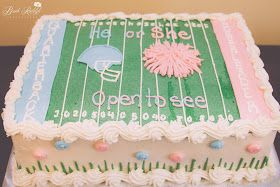 Gender reveal party cake idea