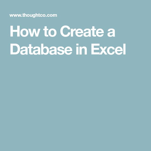 how to create a student database in excel