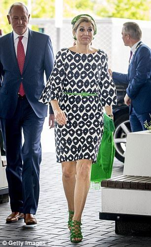Queen Maxima of The Netherlands attended the third opening of the European Academy of Neur...