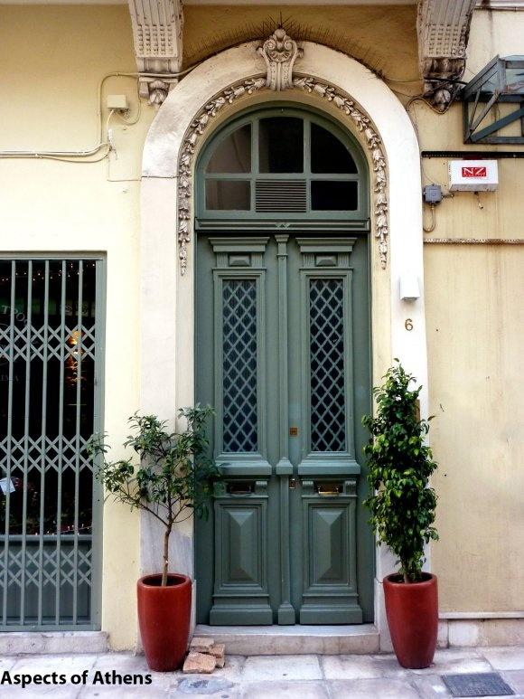 door in Plaka, Athens, Greece