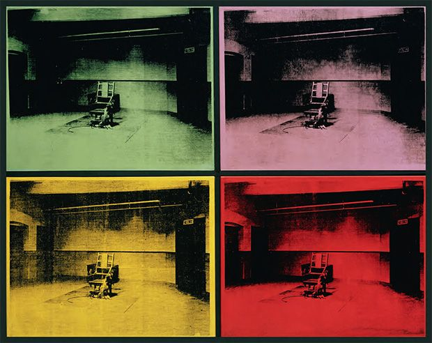 Andy Warhol's Electric Chair - http://foreveruntiltheend.com/andy-warhols-electric-chair/