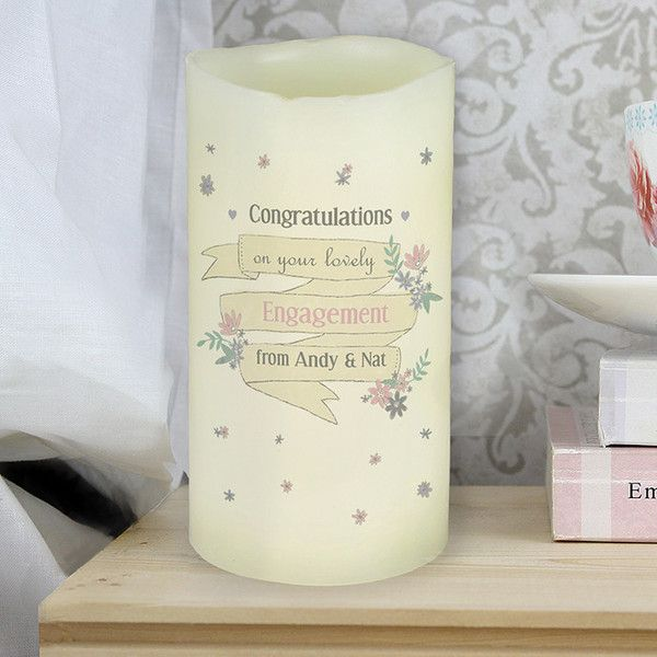 Our LED candle is made with real wax - just switch on the LED light to create a warm glow. Batteries not included.  Personalise with a message over four lines.  £10