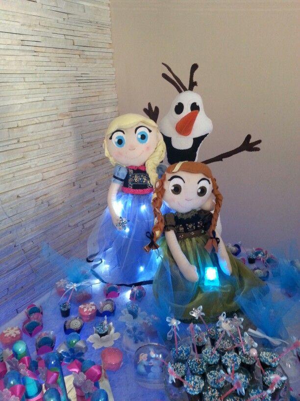 Bonecas Frozen de feltro