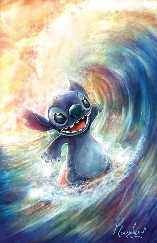So cute now if only stitch liked water...