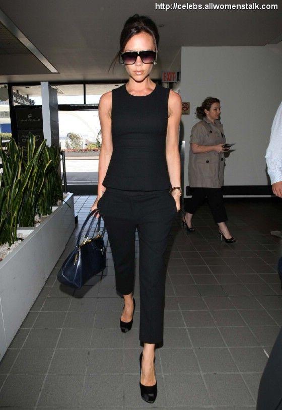 Victoria Beckham in total black