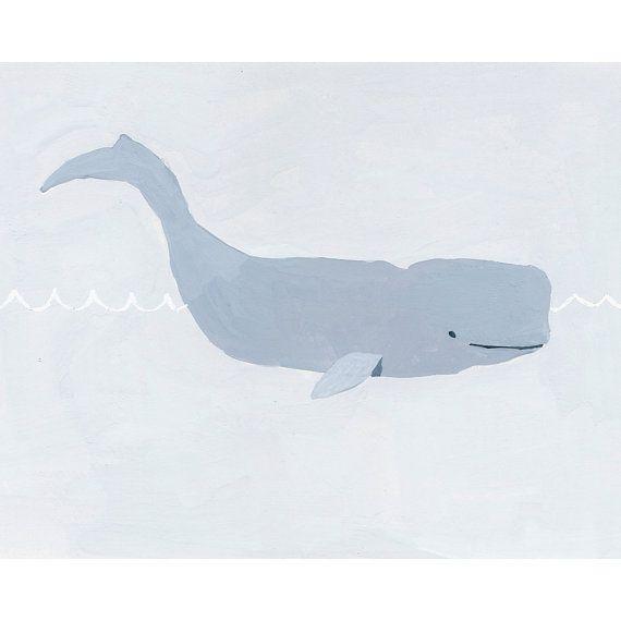 nursery art  ocean illustration  Whale  by ElizabethMayville, $20.00
