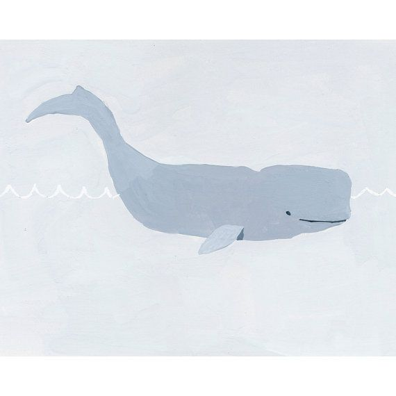 nursery art  ocean illustration  Whale  by ElizabethMayville, $20.00