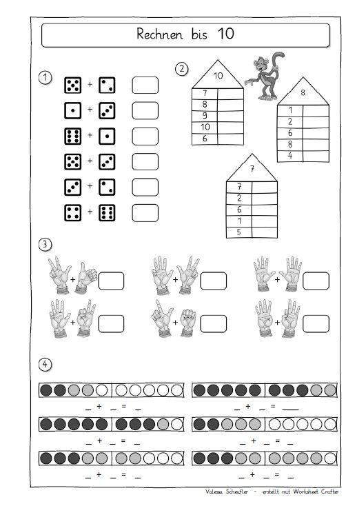 So, hier noch weitere Beispiele: 7. Rechnen und zählen ZR 10 (Hier sieht man einige Möglichkeiten, die der WSC für den Zahlenraum 10 bie...