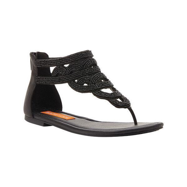 Women's Rocket Dog Henley Thong Sandal (€21) ❤ liked on Polyvore featuring shoes, sandals, black, casual, thong sandals, embellished sandals, black flats, beaded sandals, flats sandals and black thong sandals