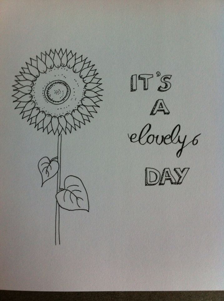 It's à lovely day! Zonnebloem, sunflower