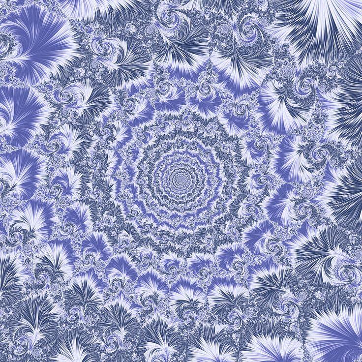 Fractal Digital Art - Blue Spiral by Mariia Kalinichenko #MariiaKalinichenko