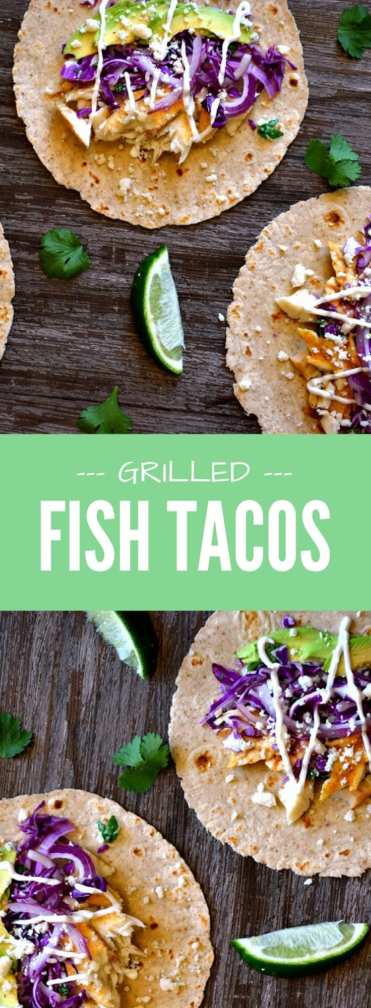 With succulenttilapia or mahi mahi, a splash of lime, fresh slaw and a blend of spices to kick up the heat, these grilled fish tacos are the perfect excuse to fire up the grill!Use corn tortillas for gluten free.