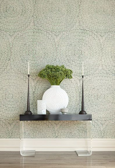Wallpaper is Feather Bloom by Schumacher