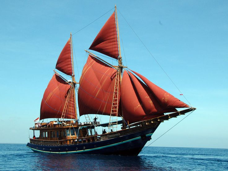 Phinisi Vessel is a traditional vessel from Bugis Tribe,South Sulawesi, Indonesia having two main masts and seven sails (three are on the edge of front part, two are on the front part, and the rest two are on back part). In its history, Bugis sailormen sail with Phinisi to Madagascar Island, Africa in 2nd and 4th Century A.D. The uniqueness of this vessel is from its constructing method which is different with other vessels. (various sources / picture:boatbuildingindonesia.com)