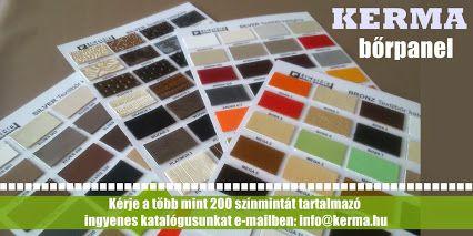 Webáruház Falpanel  Kerma Bőrpanel színminta kérhető itt: info@kerma.hu