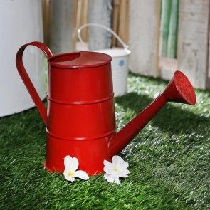 Metal Watering Can Red (1000ML)