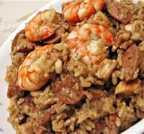"""Chicken, Sausage & Shrimp Jambalaya: """"Wow, I'm just speechless! This jambalaya recipe is a great example of why I spend so much time searching for new things to make. The leftovers were even better."""" -cuisinebymae"""