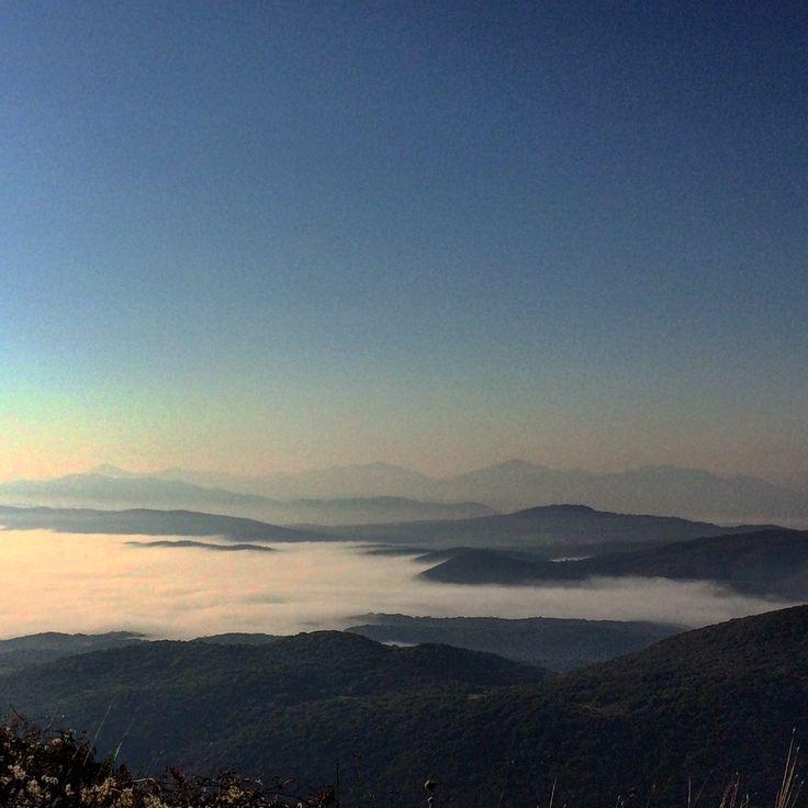Foggy Lake Ioannina, Epirus, Greece