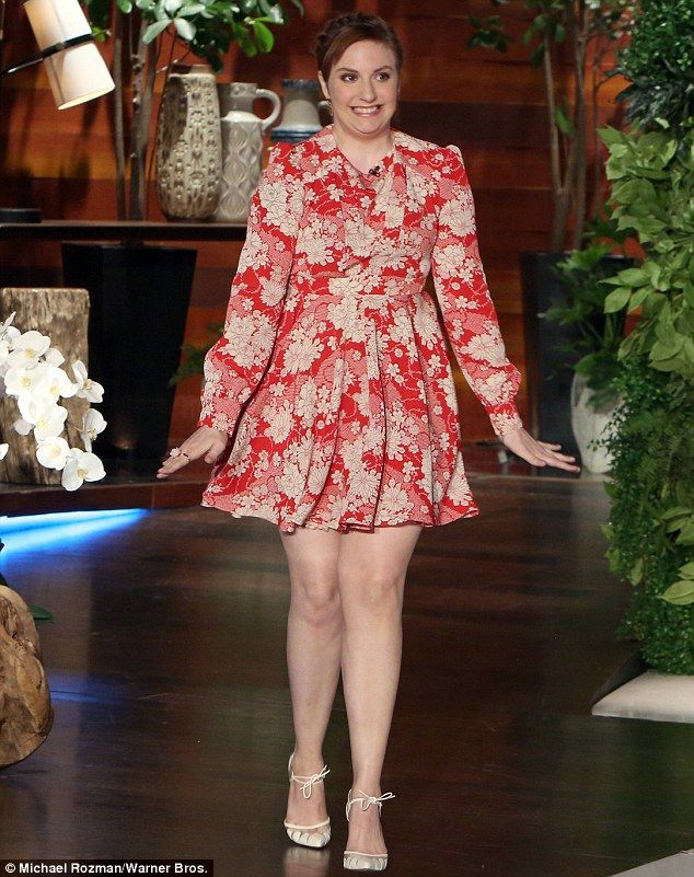 Be a lady in red in Saint Laurent like Lena Dunham #DailyMail