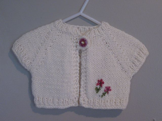 Free Pattern: Quick Knit Baby Shrug by Natalie Haban