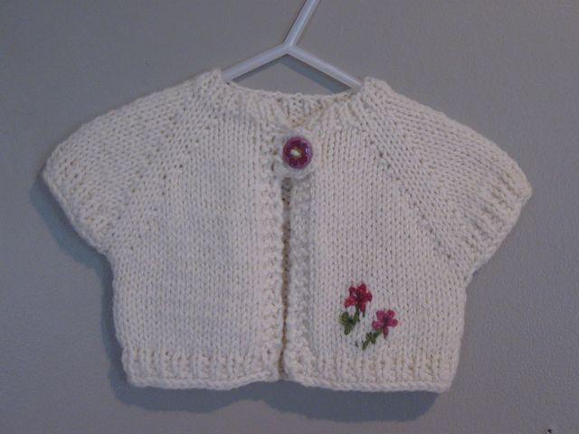 Child Bolero Knitting Pattern : 1000+ ideas about Knitted Baby Cardigan on Pinterest Baby knits, Baby cardi...