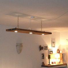 """Wunderschöne Deckenleuchte in """"Ahorn gold Optik""""  Kann auch als Hängelampe im Esszimmer oder Wohnzimmer verwendet werden.  Die Lampe ist aus massiver Holzbohle in reiner Handarbeit hergestellt..."""