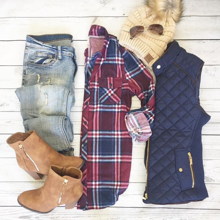 """New ArrivalS-XL **Plaid shirt sold out** ⭐️$32 shipped! {Also available beige beanie $18// Navy vest $34} Are you ready for the softest plaid shirt you have ever owned! These are literally perfect for layering! It's thin and soft which is perfect under a sweater, you don't have the extra bulk. Promise you will love, love this shirt! Colors is:Navy/Wine fabric: 100% polyester length on small: 22"""" side 25"""" front sizes available: small(0-5), medium(5-8), and large(9-12) extra large (14-16..."""