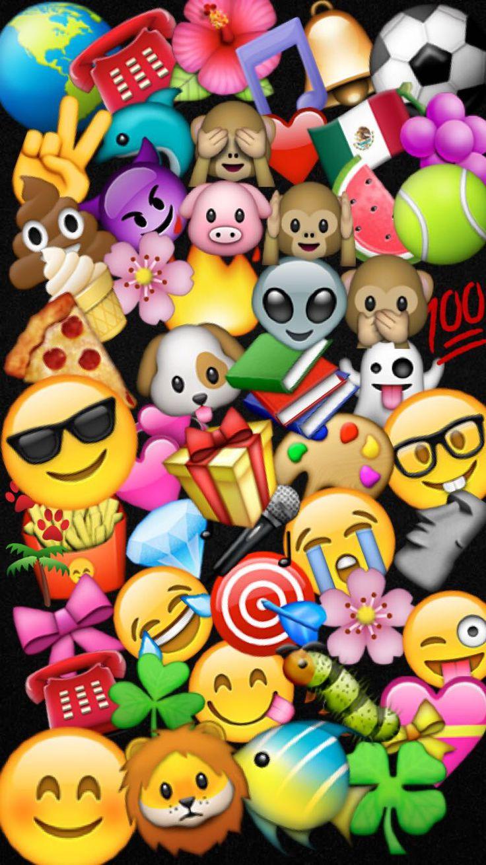 Emoji Wallpaper Papel de parede fofinhos, Papeis de