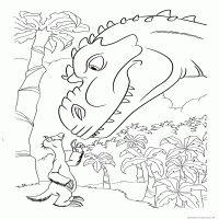 Sid And Dinosaur Coloring Page  D Artoon Ice Age  Dawn Of The Dinosaurs Cool Portraits Dinosaur Coloring Pages Dinosaur Coloring Ice Age