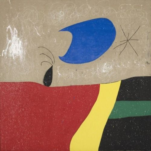 Joan Miró - The smile of a tear, 31 December 1973 Fundació Joan Miró, Barcelona