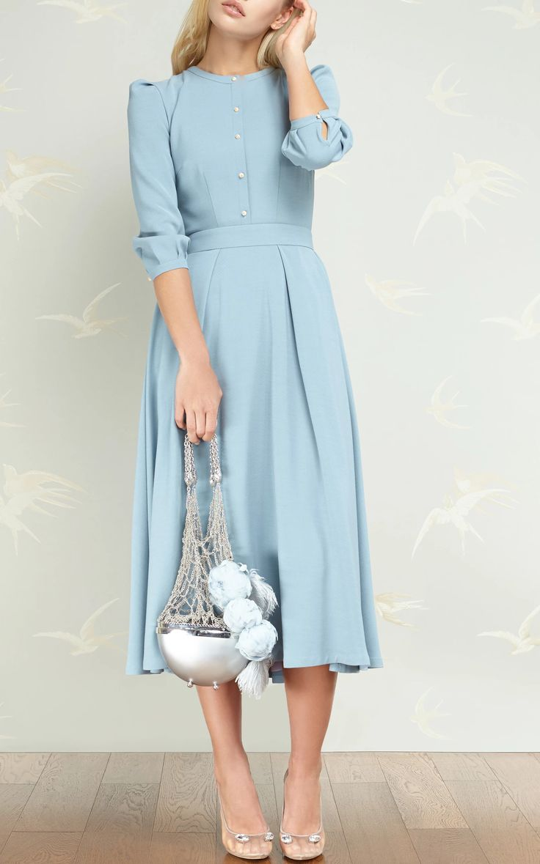 A-Line Midi Dress by ULYANA SERGEENKO DEMI COUTURE for Preorder on Moda Operandi