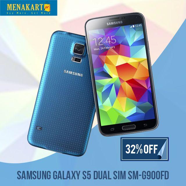 32% #OFF on Samsung Galaxy S5 Dual SIM Online #Mobiles #Samsung #Galaxy #S5 #Online #Shopping #Menakart