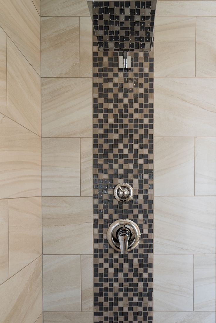Shower feature #custom #tile #makeityourown