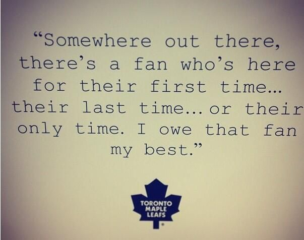 Minus the fact this is a quote from toronto...I love it!