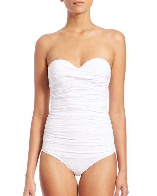 Elizabeth Hurley Beach | White One-piece Olympia Swimsuit | Lyst