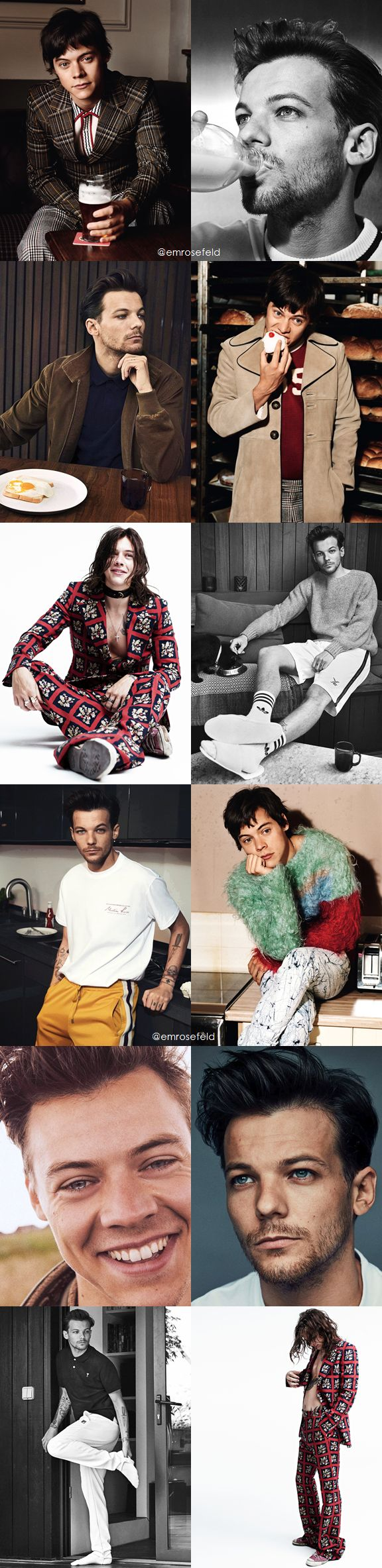 Harry Styles & Louis Tomlinson | first solo photoshoot | emrosefeld |