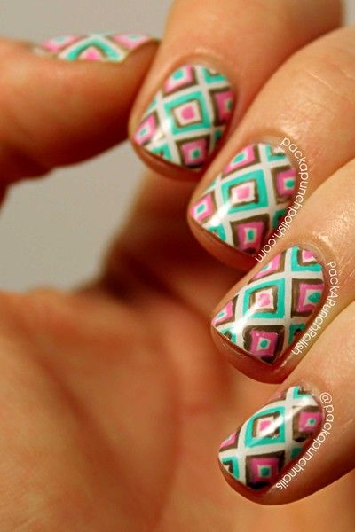 7 Best Patterned Nail Designs Images On Pinterest