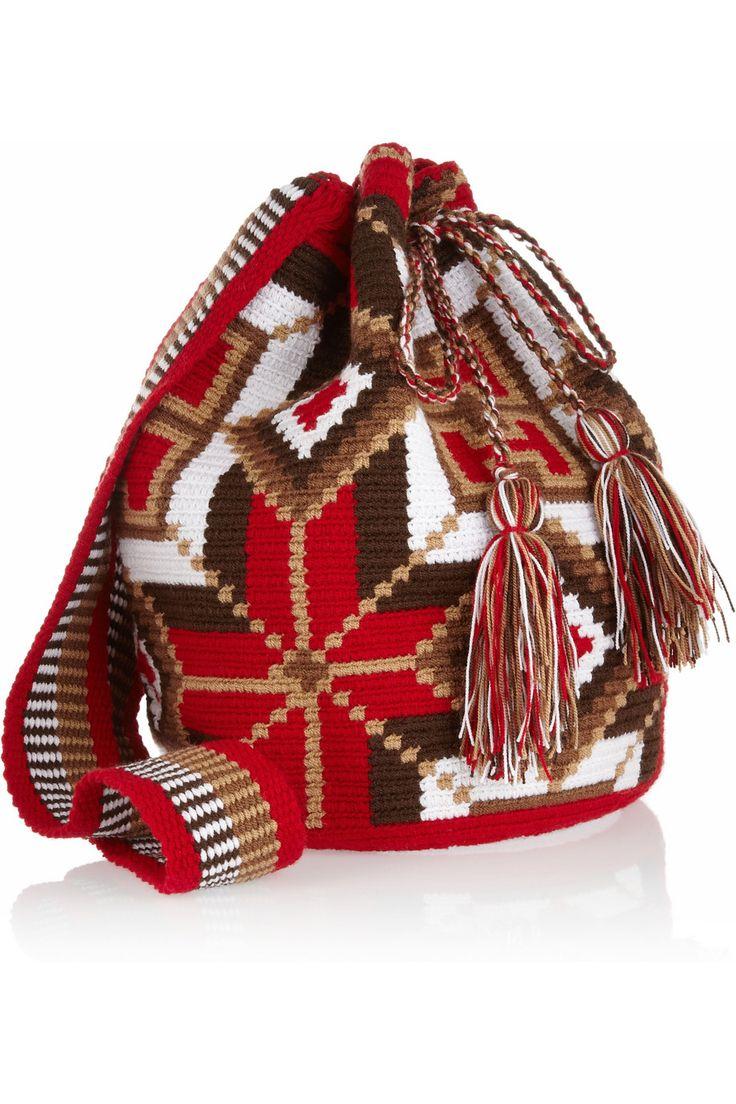 Mochilla hand-woven cotton shoulder bag