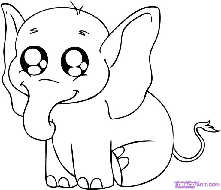 Cute coloring pages of animals wallpaper elephant